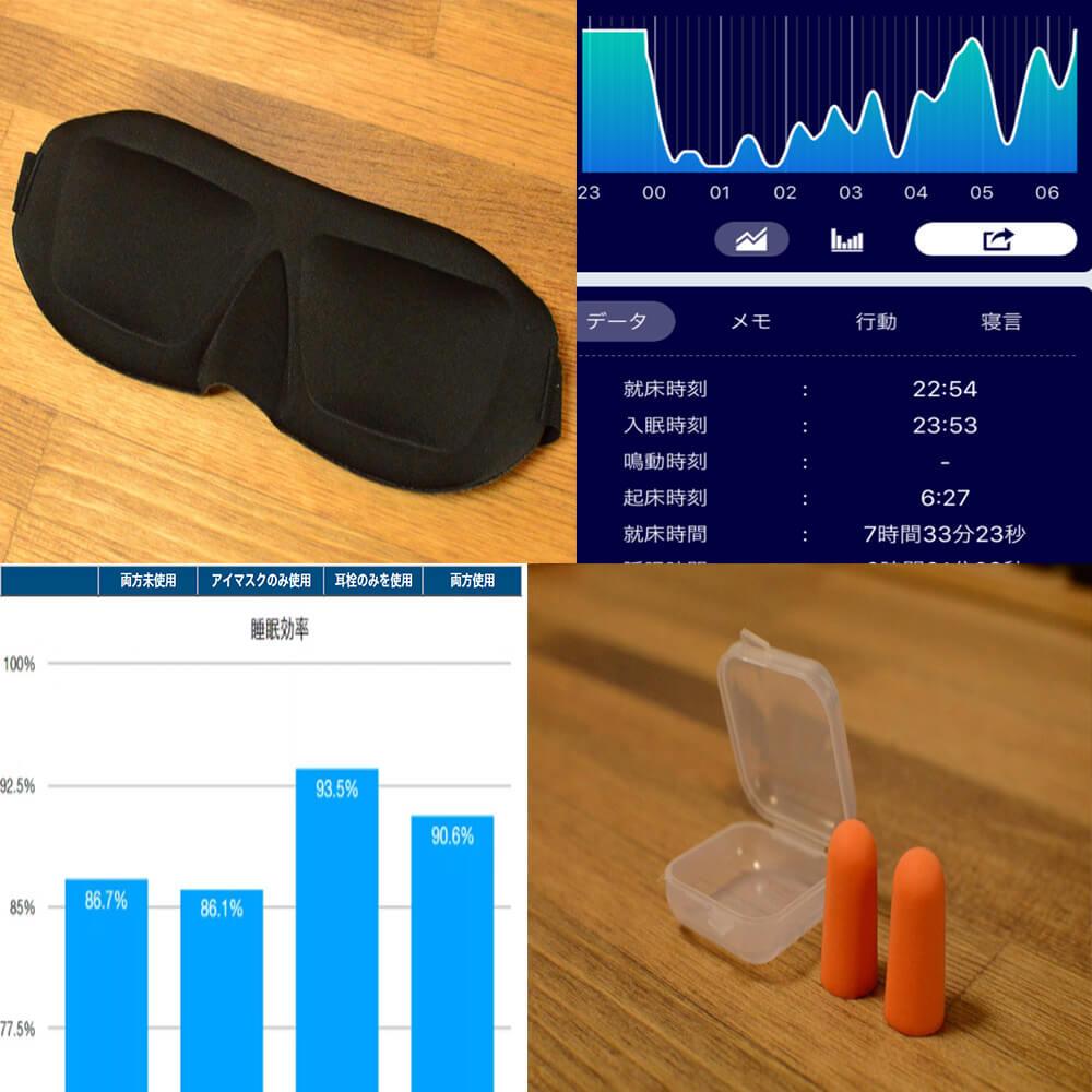 【大検証】アイマスクと耳栓には本当に快眠効果があるのか    睡眠サイクル測定アプリ「SleepMeister」を使って調べてみた